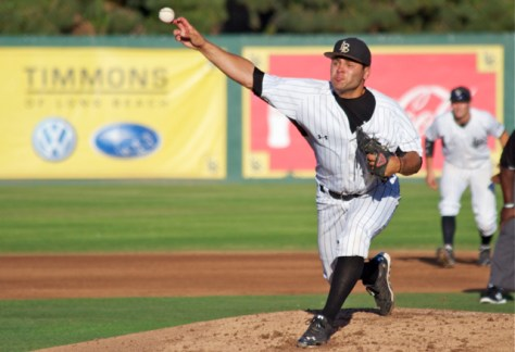 Nick Rossetta needed 93 pitches for 9 IP of scoreless relief. (Photo: Shotgun Spratling)
