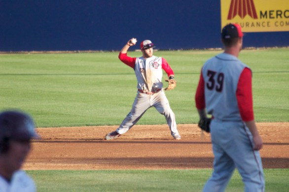 Tim Zier throws to first. (Photo: Shotgun Spratling)
