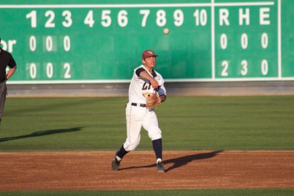 David Fletcher throws across. (Photo: Shotgun Spratling)