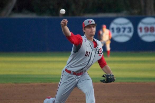 TJ Kendzora pitches. (Photo: Shotgun Spratling)