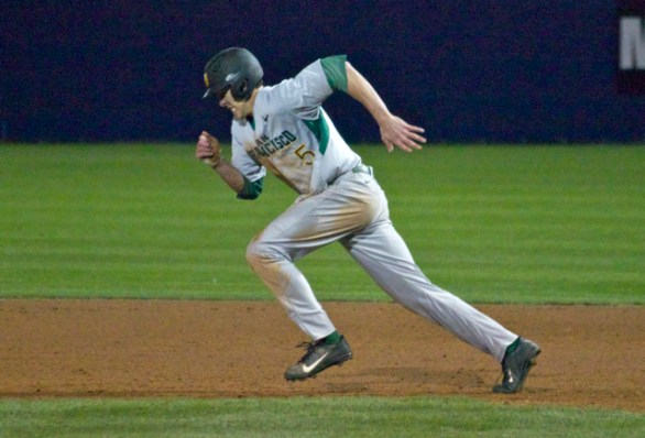 Bradley Zimmer takes off running. (Photo: Shotgun Spratling)