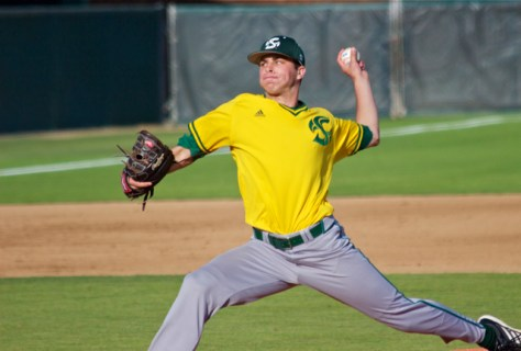 Sam Long allowed 4 ER in 7 IP. (Photo: Shotgun Spratling)