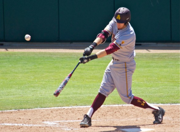 Dalton Dinatale dropped in a two-run bloop single. (Photo: Shotgun Spratling)