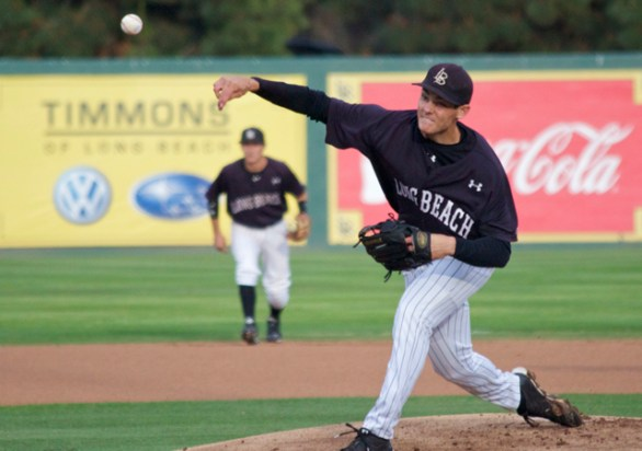 Andrew Rohrbach allowed 1 ER in 8 IP. (Photo: Shotgun Spratling)