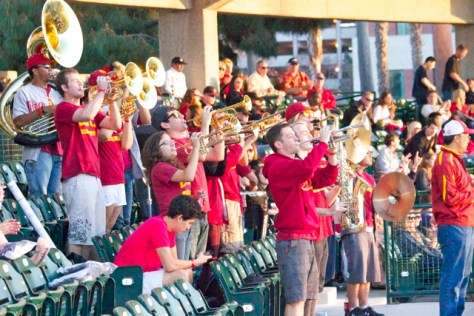 The USC Alumni Band was on hand. (Photo: Shotgun Spratling)