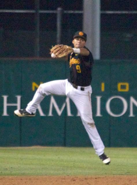 Frankie Rios leaps up for a jump throw. (Photo: Shotgun Spratling)