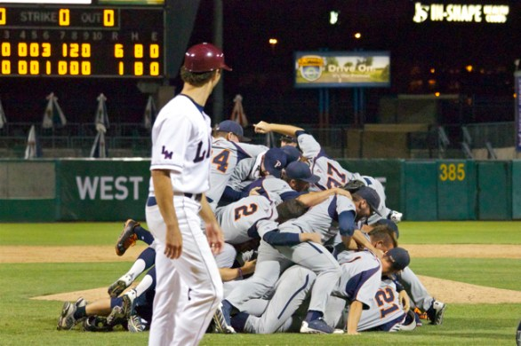 LMU had to watch the Pepperdine celebration. (Photo: Shotgun Spratling)