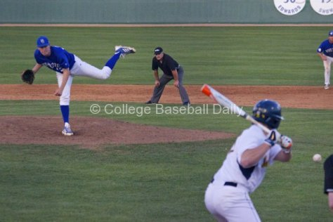 Kevin Sprague fires a pitch.