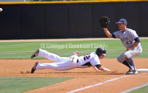 Adam Berry dives back into first.