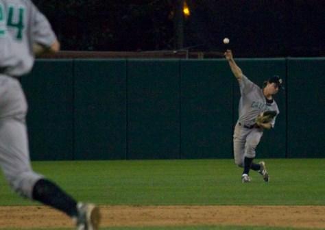 Jordan Ellis throws home.