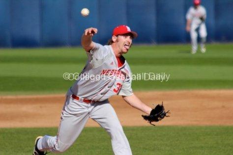 Ryan Hander pitches.