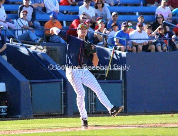 Matt Chapman throws across.