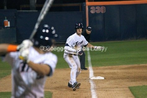 Matt Chapman leads off third base.