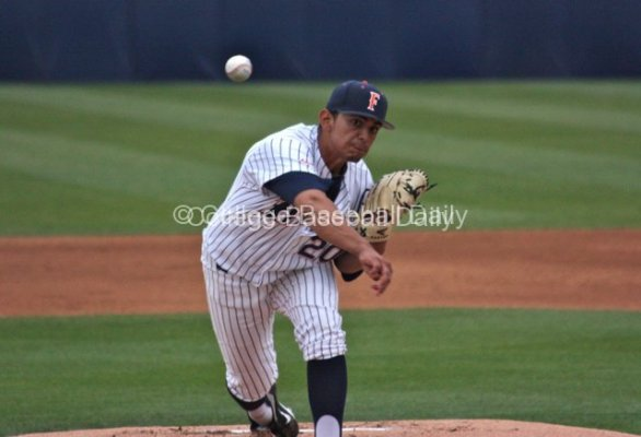 Jose Cardona started for Cal State Fullerton.