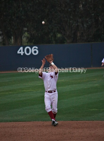 Cullen Mahoney catches an infield fly
