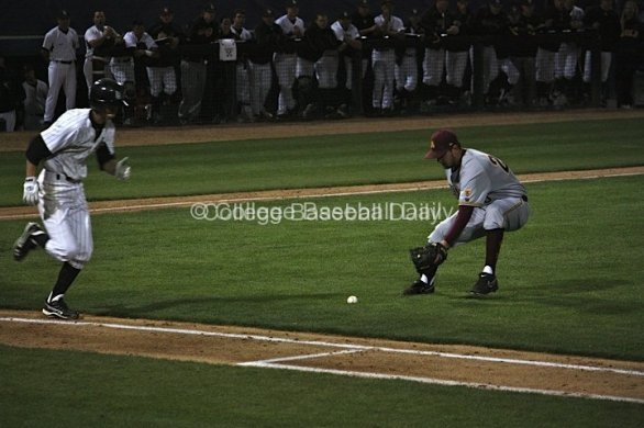 Brady Rodgers fields a bunt.