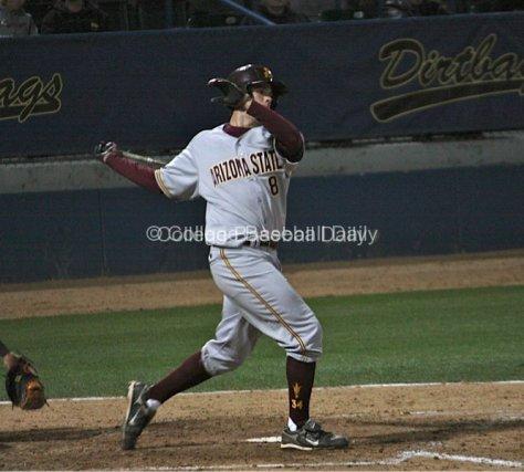 Kasey Coffman with a big swing.