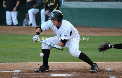 Brennan Fulkerson lays down the bunt.