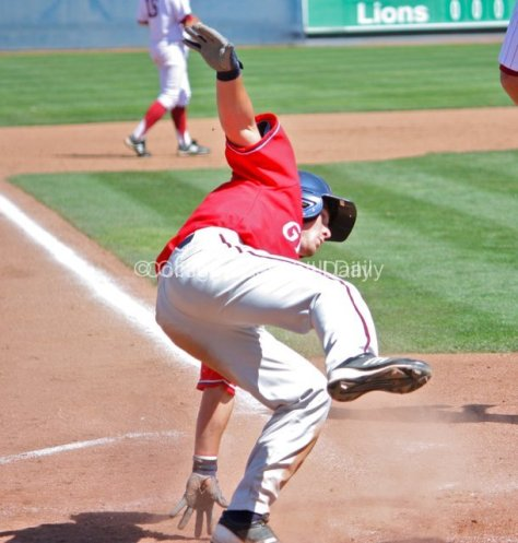 Ricky Boas slips.