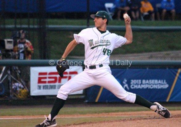 Matt Imhof pitches.