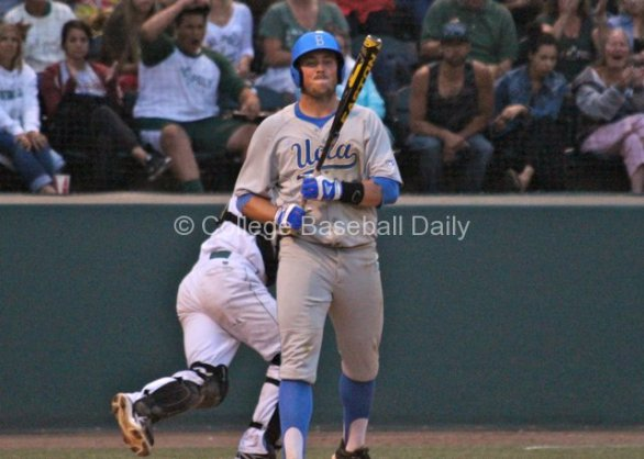 Cody Regis is upset after striking out.