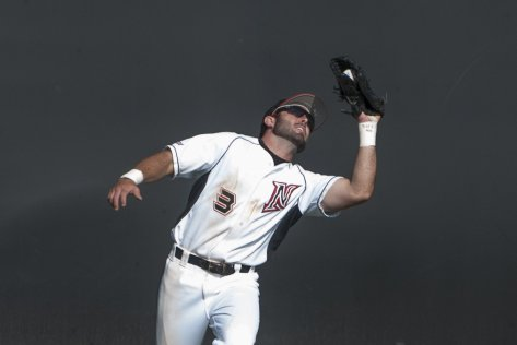 Cal Vogelsang catches a fly.