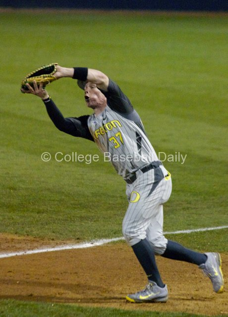 Mitchell Tolman catches a popup.