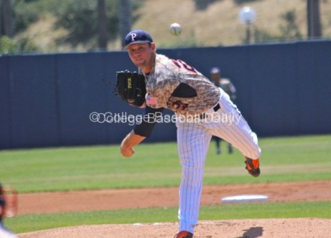Aaron Brown pitched his first career complete game.