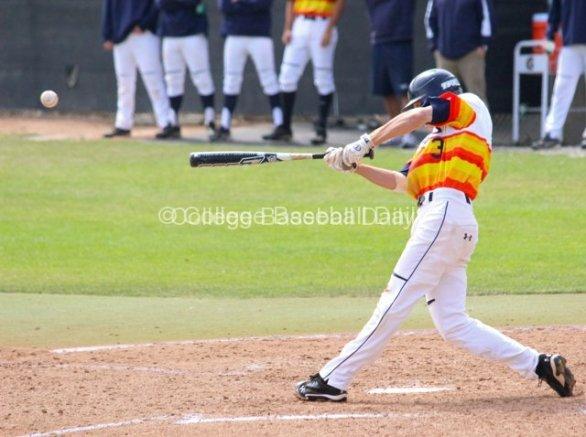 Zach Vincej singles home a run.