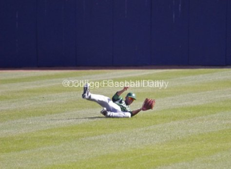 CF Jason Maffei makes a sliding catch.