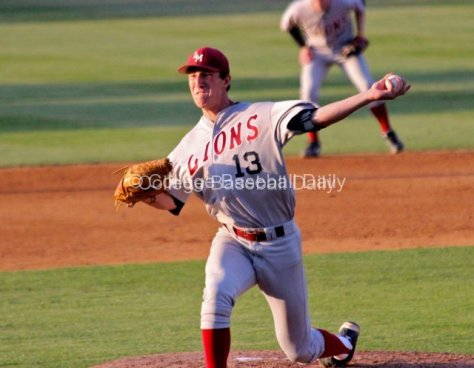 Matt Florer pitches at Riverside.
