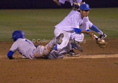 Trent Chatterton smothers a pick-off attempt.