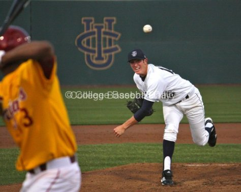 Jimmy Litchfield throws a fastball to Dante Flores.