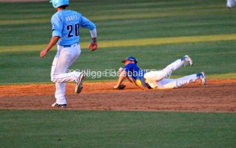 Cody Hough makes a diving stop.