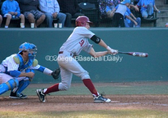Garrett Stubbs can't check his swing.