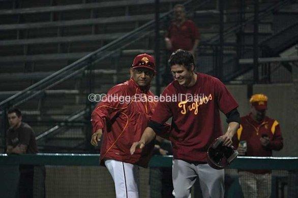 Grant Green and USC coach Frank Cruz