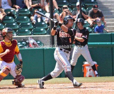 Michael Conforto takes a big swing.