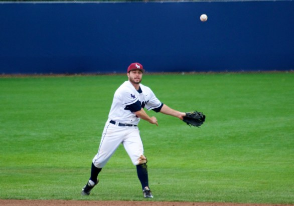 ...Brice Savage pops up and throws to first.