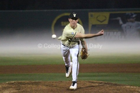 Brian Miller pitch seems to come straight from the fog. (Photo: Shotgun Spratling)