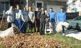 Hofstra Baseball Participates in Community Raking Day