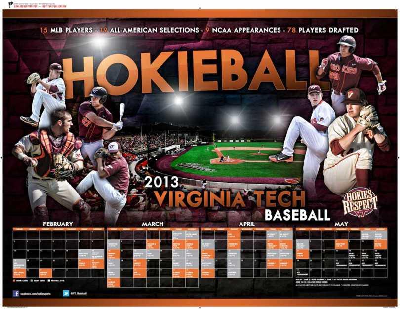 2013 VT Baseball Poster