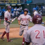 Beau Branton scores for a 4-2 lead in the 6th inning. Photo by Steve Cheng, BHEphotos.