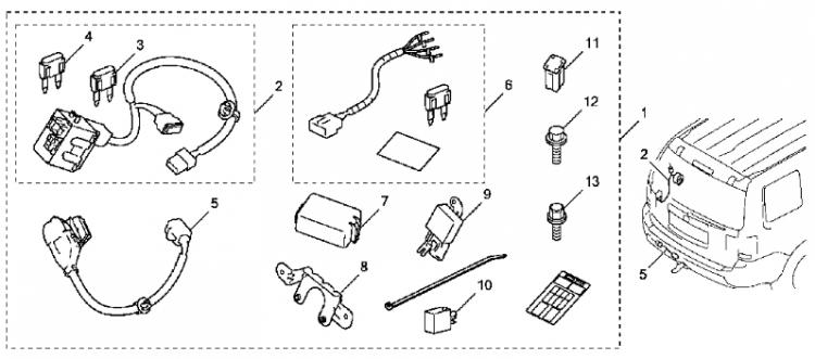 2013 honda ridgeline trailer wiring harness