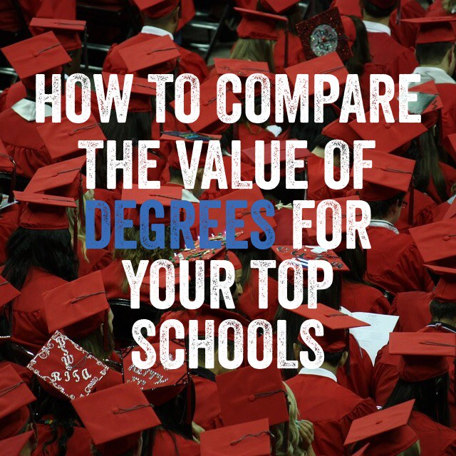 How to Compare the Value of Degrees for Your Top Schools - College - compare schools college