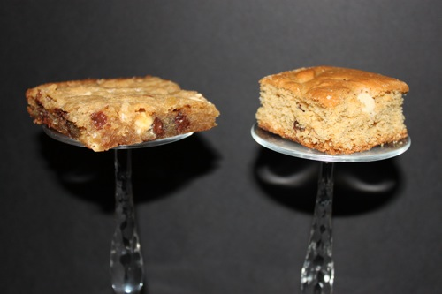 Which is better: fudgy or cakey blondies?