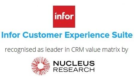 Nucleus Research recognises Infor as Leader in CRM value matrix - value matrix