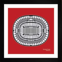 Atlanta Falcons Georgia Dome Stadium Print Art Gift Wall Art