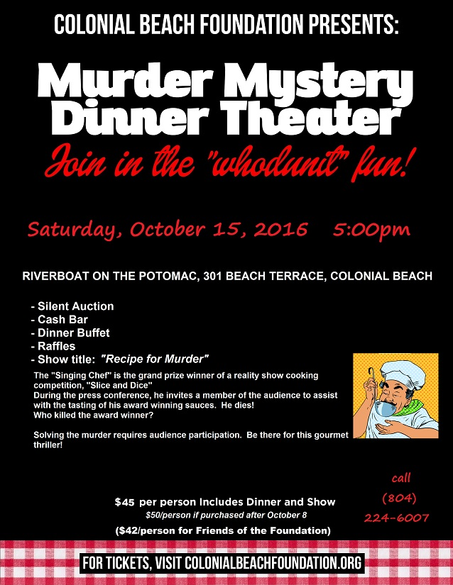 Murder Mystery Dinner Theater October - Dinner Flyer