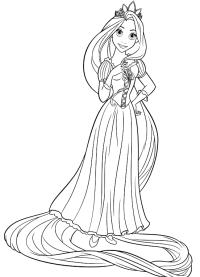 Rapunzel Da Stampare E Colorare Disegno Di Rapunzel Che Veste
