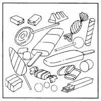 Caramelle 6, Disegni per bambini da colorare